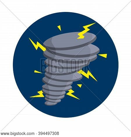 Vector Tornadoes And Strong Wind In Circle