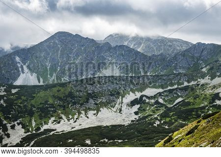 Western Tatras Scenery, Slovak Republic. Hiking Theme. Seasonal Natural Scene.