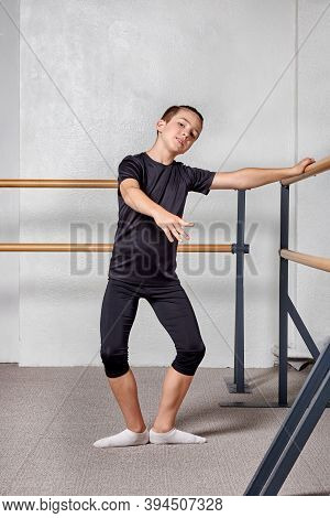 A Beautiful Young Man In Full Growth To Study Ballet At A Ballet School.
