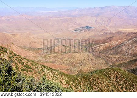 View Of The Arid Colorado Desert Taken From A Windswept Mountain Ridge In The Rural Southern Califor