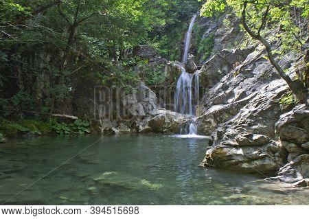 Iliochori Waterfall, Natural Landscape In Epirus, Ioannina, Greece