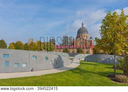 Graz, Austria 20 10 2020;urn Walls At The Central Cemetery In Graz And The Serbian-orthodox Church O