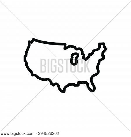 Black Line Icon For County Territory Region Province Shire Constituency Map Continent Border Boundar