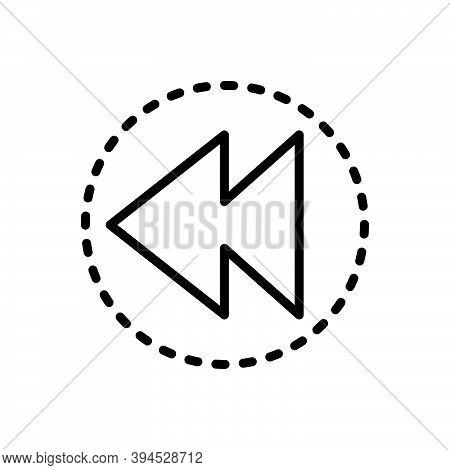 Black Line Icon For Prior Earlier Previous Advance Former Ago Before Antecedent Anterior Preceding