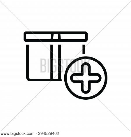 Black Line Icon For Item Box Object Commodity Thing Groceries Shop Element Product Daily-use-item