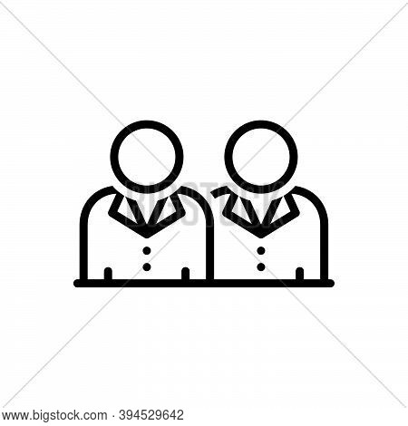 Black Line Icon For Brother Brethren Sibling Relative Relation Boy People