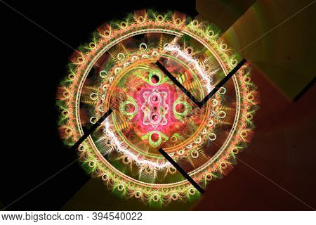 Yellow Positive Artsy Background Cover Logo Illustration Fractal Wallpaper