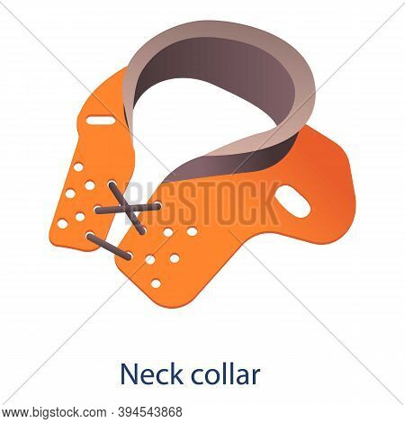 Neck Collar Icon. Isometric Of Neck Collar Vector Icon For Web Design Isolated On White Background