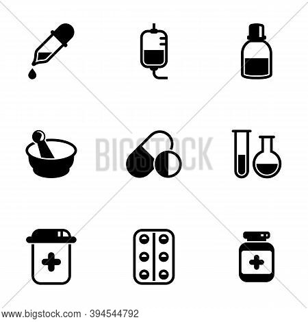 Set Of Simple Icons On A Theme Medicine, Medicine, Medicine, Vector, Set. White Background