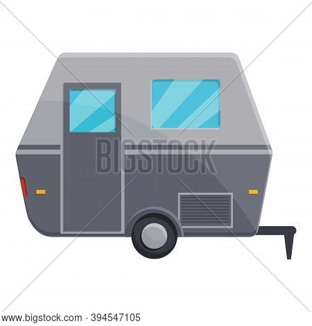 Motorhome Automobile Icon. Cartoon Of Motorhome Automobile Vector Icon For Web Design Isolated On Wh