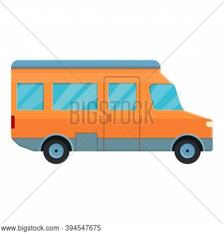 Voyage Motorhome Icon. Cartoon Of Voyage Motorhome Vector Icon For Web Design Isolated On White Back