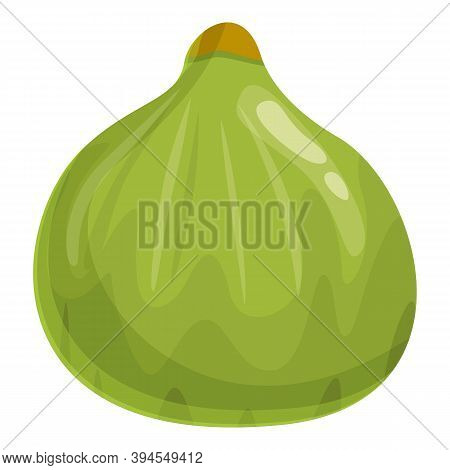 Raw Fig Icon. Cartoon Of Raw Fig Vector Icon For Web Design Isolated On White Background