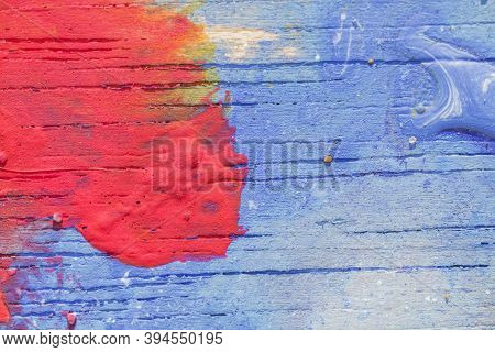 Macrophotography Of Hand Drawn Abstract Acrylic Colorful Background Painting