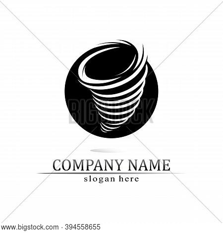 Tornado Logo Symbol Vector Illustration Design Cyclone Logo