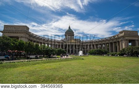 Saint- Petersburg, Russia - August 13, 2018: Kazan Cathedral, Also Known As The Cathedral Of Our Lad