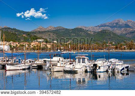 Boats In Port D'andratx Dock In Mallorca