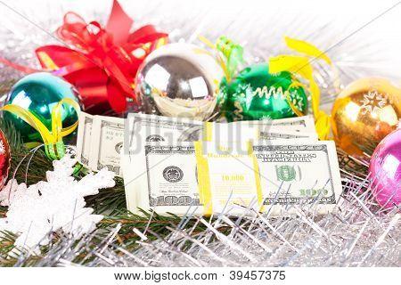 Dollars on christmas