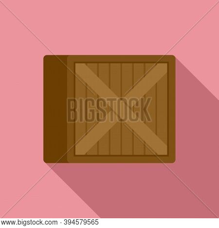 Storage Wood Crater Box Icon. Flat Illustration Of Storage Wood Crater Box Vector Icon For Web Desig