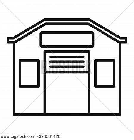 Storage Warehouse Icon. Outline Storage Warehouse Vector Icon For Web Design Isolated On White Backg