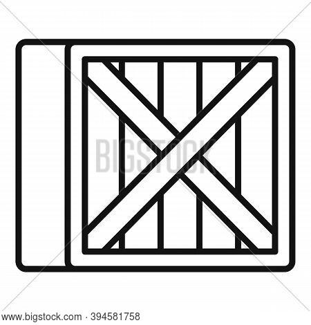 Storage Wood Crater Box Icon. Outline Storage Wood Crater Box Vector Icon For Web Design Isolated On