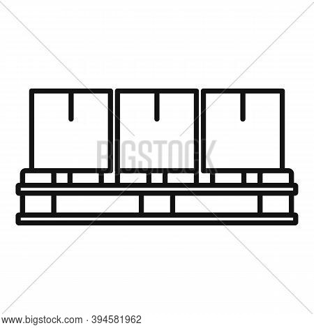 Storage Parcel Pallet Icon. Outline Storage Parcel Pallet Vector Icon For Web Design Isolated On Whi