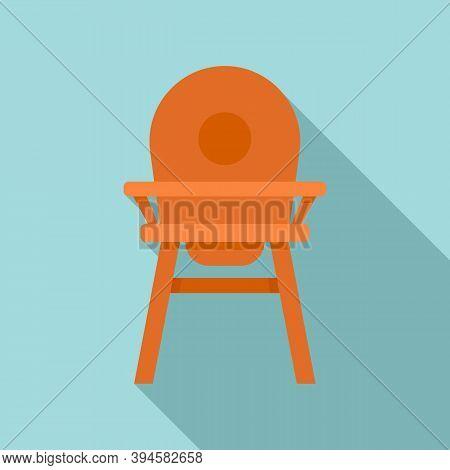 Childcare Feeding Chair Icon. Flat Illustration Of Childcare Feeding Chair Vector Icon For Web Desig