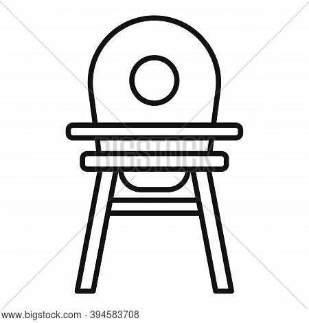 Childcare Feeding Chair Icon. Outline Childcare Feeding Chair Vector Icon For Web Design Isolated On