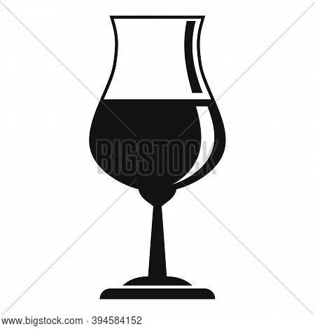 Alcohol Glassware Icon. Simple Illustration Of Alcohol Glassware Vector Icon For Web Design Isolated