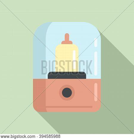 Baby Bottle Sterilizer Icon. Flat Illustration Of Baby Bottle Sterilizer Vector Icon For Web Design