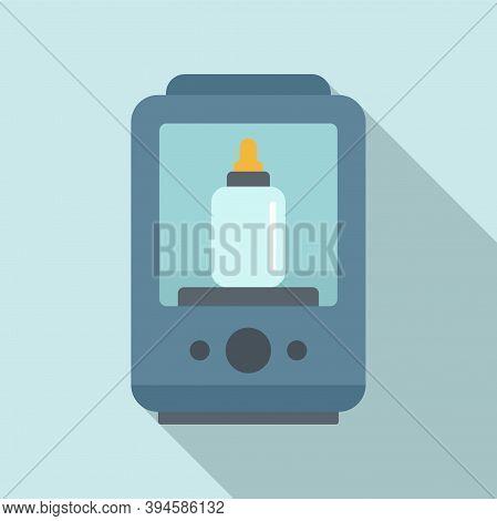 One Bottle Sterilizer Icon. Flat Illustration Of One Bottle Sterilizer Vector Icon For Web Design