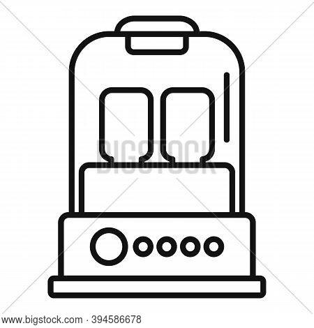 Milk Bottle Sterilizer Device Icon. Outline Milk Bottle Sterilizer Device Vector Icon For Web Design