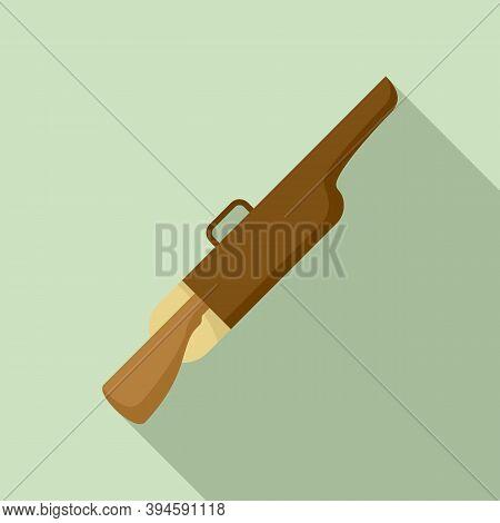 Safari Hunter Rifle Icon. Flat Illustration Of Safari Hunter Rifle Vector Icon For Web Design