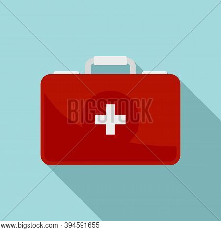 Safari Hunting First Aid Kit Icon. Flat Illustration Of Safari Hunting First Aid Kit Vector Icon For