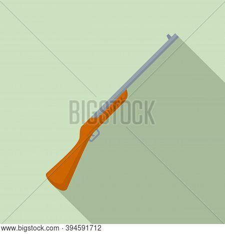Safari Hunting Rifle Icon. Flat Illustration Of Safari Hunting Rifle Vector Icon For Web Design