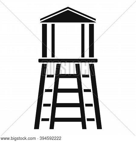 Safari Hunter Tower Icon. Simple Illustration Of Safari Hunter Tower Vector Icon For Web Design Isol