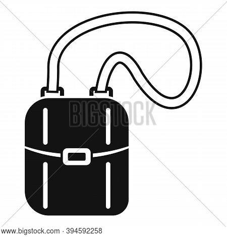 Hunter Safari Bag Icon. Simple Illustration Of Hunter Safari Bag Vector Icon For Web Design Isolated