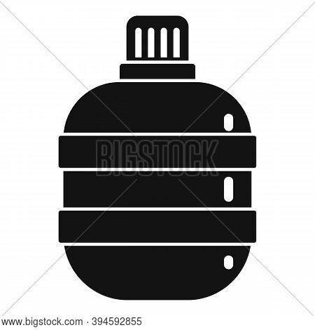 Safari Hunting Water Flask Icon. Simple Illustration Of Safari Hunting Water Flask Vector Icon For W