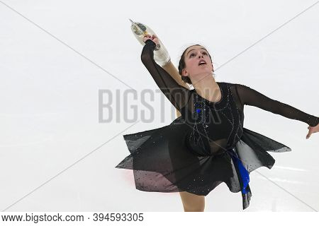 Minsk, Belarus – November 1, 2020: Professional Female Figure Skater Alina Iushchenkova From Israel