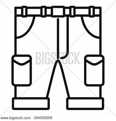Safari Hunting Shorts Icon. Outline Safari Hunting Shorts Vector Icon For Web Design Isolated On Whi