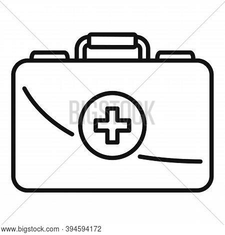Safari Hunting First Aid Kit Icon. Outline Safari Hunting First Aid Kit Vector Icon For Web Design I