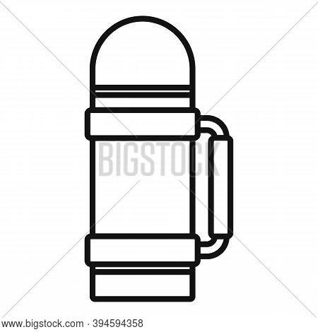 Safari Hunting Thermos Bottle Icon. Outline Safari Hunting Thermos Bottle Vector Icon For Web Design