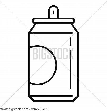 Soda Tin Can Icon. Outline Soda Tin Can Vector Icon For Web Design Isolated On White Background