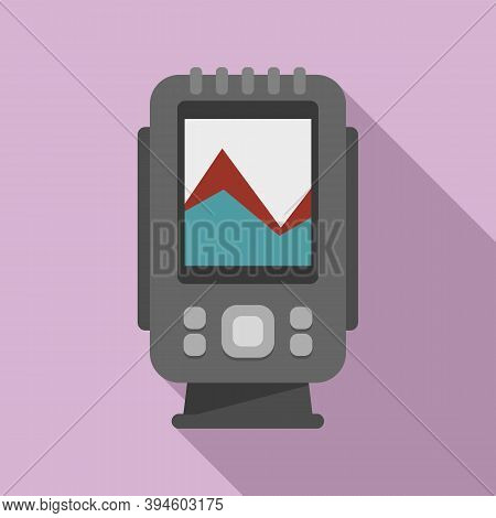 Digital Echo Sounder Icon. Flat Illustration Of Digital Echo Sounder Vector Icon For Web Design