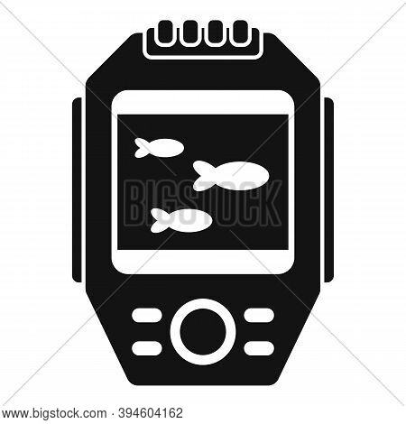 Display Echo Sounder Icon. Simple Illustration Of Display Echo Sounder Vector Icon For Web Design Is