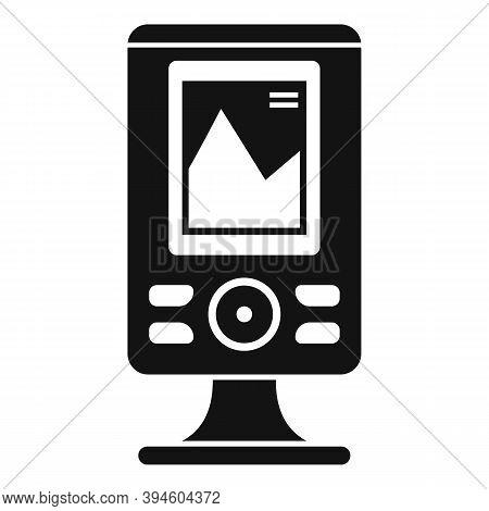 Fishfinder Echo Sounder Icon. Simple Illustration Of Fishfinder Echo Sounder Vector Icon For Web Des