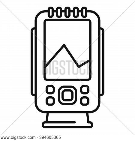 Diving Echo Sounder Icon. Outline Diving Echo Sounder Vector Icon For Web Design Isolated On White B