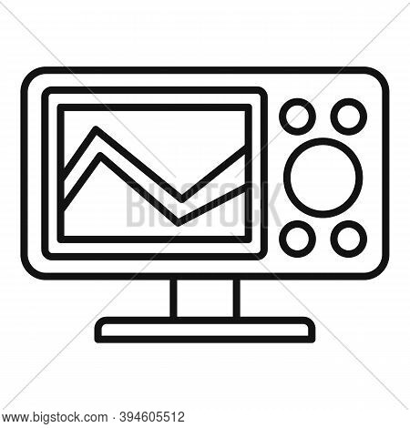 Sonar Echo Sounder Icon. Outline Sonar Echo Sounder Vector Icon For Web Design Isolated On White Bac