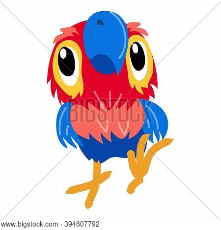 Macaw Parrot Icon. Cartoon Of Macaw Parrot Vector Icon For Web Design Isolated On White Background