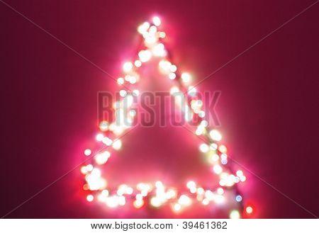 christmas tree light blur