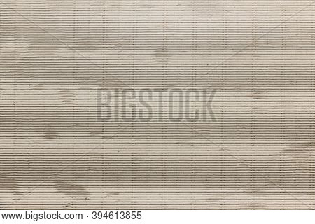 Kraft Paper Texture. Corrugated Cardboard As Background. Brown Card Board Background.